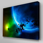 C102 Outer Space Asteroid Canvas Wall Art Ready to Hang Picture Print
