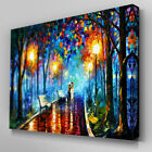 C196 Umbrella Park Date Canvas Wall Art Ready to Hang Picture Print