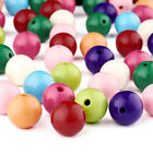 105pc/500g Bubblegum Ball Chunky Acrylic Beads Opaque Loose Bead 20mm Pick Color