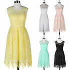 Short Lace Summer Prom Cocktail Party Formal Festival Evening Gown Mini Dresses