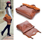 New women's PU leather rabbit fur bag shoulder bag handbag Tote Hobo Gift purse