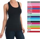 Sofra Women 100% COTTON  BASIC SOLID RACER BACK  TANK TOP  Multi Color