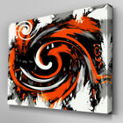 AB172 Orange TwistSwirl Design Canvas Wall Art Ready to Hang Picture Print