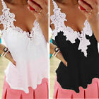 Sexy Ladies Sleeveless Embroidery Lace Casual Tops Chiffon T Shirt Blouse