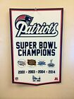 New England Patriots Super Bowl XLIX Championship Banner Style Poster 2015 NFL