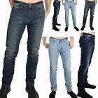 Mens Designer Regular Slim Fit Zip Fastening Classic Pocket Tapered Jeans Pants