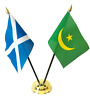 More images of Scotland & Maritania Double Friendship Table Flags & Badge Set