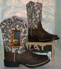 ARIAT QUICKDRAW GIRAFFE COWGIRL BOOTS CHILD GIRL Brown Pink Leather 10004854 NEW