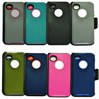 New Defender case for IPhone 4 / 4s w / belt clip&Screen Protector