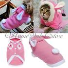 Vêtement Manteau Costume Capuche Veste Lapin Chien Chat Animal Rose Coton