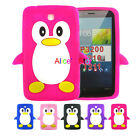 """3D Cute Penguin Soft Rubber Case Cover for Samsung Galaxy Tab 3 7.0"""" T210 New US"""