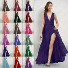 2015 Bridesmaids Dresses Long Evening Prom Gown V Neck Women's Dress Size 6-26