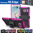 TPU Case Cover For Samsung Galaxy S6 Edge Shockproof Heavy Duty With Kickstand