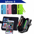 Apple iPhone 6 Case Cover Magnet Zip Leather Flip Cover Coins Wallet All in One