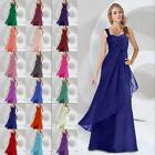 One Shoulder Bridesmaid Dress Prom Wedding Gowns Party Evening Formal Size 6-26