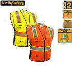 DELUXE SAFETY VEST, HIGH QUALITY REFLECTIVE YELLOW/Orange SIZE S/M ANSI CLASS 2