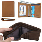 Classic Men Cowhide Genuine Leather Bifold Card Holder Wallet Clip Purse Pocket