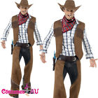 Adult Male Fringe Cowboy Rodeo Western Smiffys Licensed Fancy Dress Mens Costume