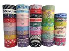 Washi Tape Sticky Paper Colour Adhesive Craft Label Trim Gift Wrap
