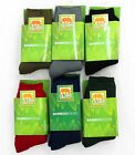 Mens Bamboo Cushion Foot Work Socks Mixed Colours 3 Pack Size 6-11 11-14