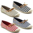 Refresh COVER-02 Women's Lace Up Espadrille Slip On Skimmer Loafer Flats
