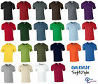 Gildan Mens Softstyle Ringspun Short Sleeve Plain Crewneck Cotton T Shirt 64000