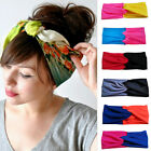 Women Lady Cotton Turban Twist Knot Head Wrap Headband Twisted Knotted Hair Band