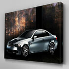 Cars106 Chrome BMW M3 Warehouse Canvas Art Ready to Hang Picture Print