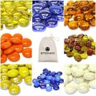 Decorative Round Glass Pebbles Nuggets Beads Wedding Table Crystal STONED®