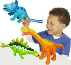 Battery Operated Dinosaurs Play Set Light Up Sound Walking Dinosaur World Toy
