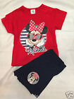 New Disney Minnie Mouse girls grey & pink short pyjamas nightwear sleepwear