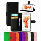 Leather Wallet Book Flip Case Cover Pouch For Apple iPhone + Free Screen Guard