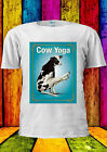 Cow Yoga Tumblr Funny Urban Fashion T-shirt Vest Tank Top Men Women Unisex 1811