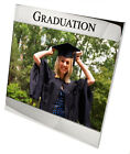 Personalised Silver Plated Photo Frame, Engraved University Graduation Gift