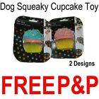 Dog Pet Cup Cake Toy Puppy Play Fun Chew Squeaky