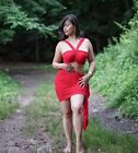 Dress Red Two Piece Body Contour