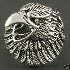 Detailed 1 inch Brave American Eagle Patriotic Animal Ring Silver Tone rg444sv