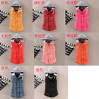 1x Womens Korean Faux Fur Coat Hoodie Winter Warm Vest Overcoat Multi-color WFR