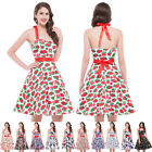 Vintage Style Rockabilly 40's 50's Swing Pinup Cocktail Housewife Retro Dresses