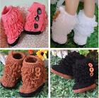Hotsale Baby Kids Wool Handmade Tassel Crochet Knit Walker Shoes Boot Slippers Z