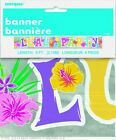 LUAU PARTY BANNER  9ft  (2.74m)