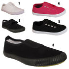 BOYS GIRLS KIDS YOUTH CHILDREN CANVAS  PUMPS PLIMSOLLS SHOES TRAINERS SIZES UK