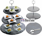 1 / 2 / 3 Tier Cupcake Food Slate Stone Stand Cake Platter Plate Serving Tray