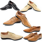 Ladies Women Low Heel Lace Up Casual Shoes Office Shoes Work Pointed Toe Shoes
