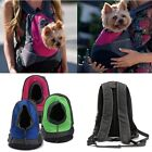 Pet Dog Puppy Carrier Travel Note Bag Front Net Double Shoulder Sling Backpack