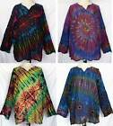 Tie Dye Long Sleeve Cotton TOP Pullover Shirt Sz 3XL Plus 3X BOHO Gypsy Unisex
