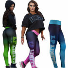 LP Limits Lady Leggings Neopren Thermosublimationsdruck blau, pink und grün