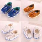 Baby Kids Leather Hollow Star Beach Velcro Shoes Soft Sole Crib Sandals Toddler