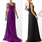 New V Neck Pleats Formal Evening Ball Bridesmaid Prom Party Cocktail Dress