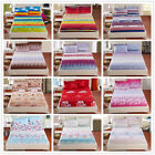 New Single/Queen/King Bed Linen Fitted Sheets With Pillow Cases Set New Fiber
